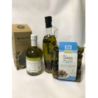 Набор (оливковое масло с приправами, оливки)